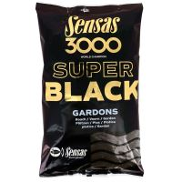 Sensas kŕmenie 3000 SUPER BLACK 1kg-Carpes