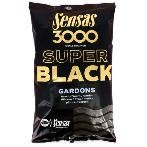 Sensas kŕmenie 3000 SUPER BLACK 1kg