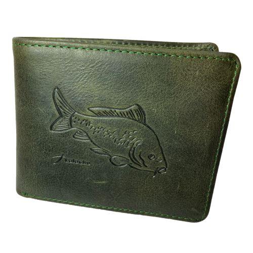 Kožená Rybárska Peňaženka Kapor - Tmavo Zelená