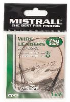 MISTRALL Oceľové Lanko Wire Leaders 30 cm-15 kg