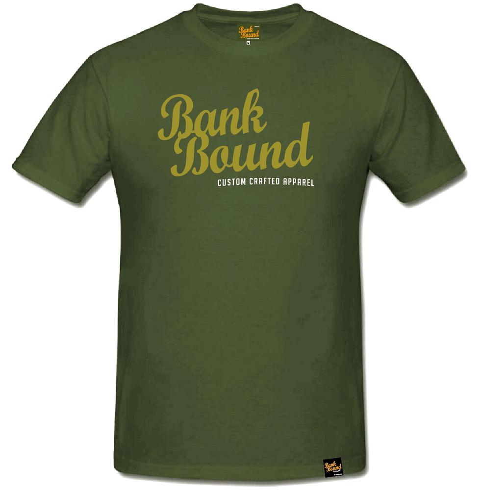 Prologic tričko bank bound custom ólive tee-veľkosť s