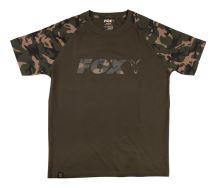 Fox Tričko Camo Khaki Chest Print T-Shirt - L