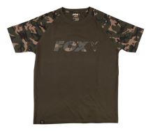 Fox Tričko Camo Khaki Chest Print T-Shirt - M