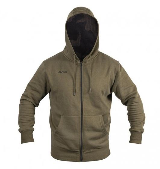 Avid carp mikina distortion zip hoodie - veľkosť xl