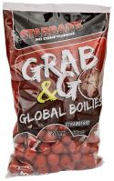 Starbaits Boilie Grab & Go Global Boilies Strawberry Jam 20 mm - 1 kg