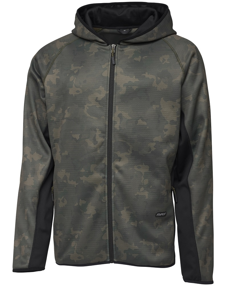 Mad mikina zip hoodie in camovision - m