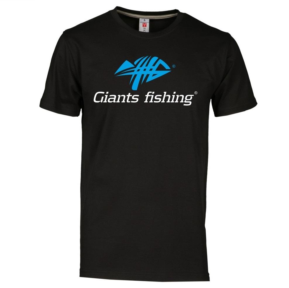 Giants fishing tričko pánské čierne-veľkosť l