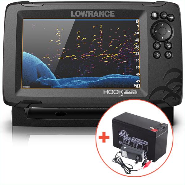Lowrance echolot hook reveal 7 so sondou hdi 83/200 khz