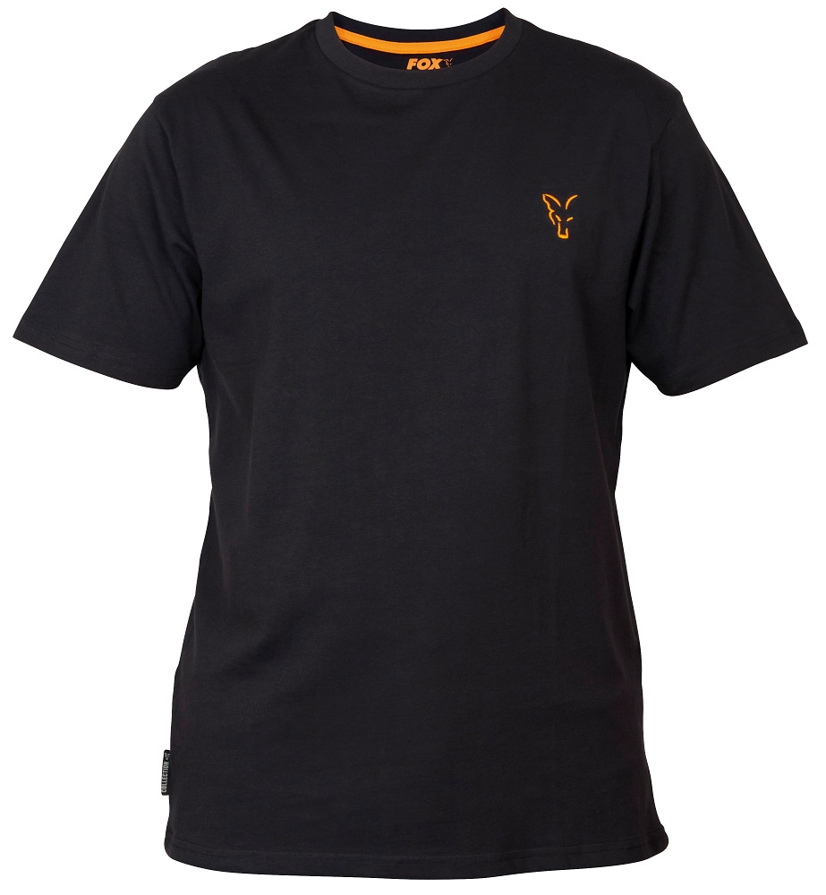 Fox tričko collection black orange t shirt-veľkosť s