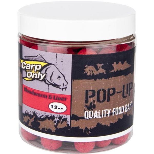 Carp only plávajúce boilies pop up 100 g 12 mm-red crustacean