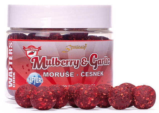 Sportcarp boilie neutrálne vyvážené nástrahy wafters cork 300 ml 20 mm-mulberry garlic