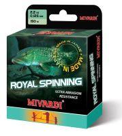 Mivardi  Vlasec  Royal Spinn Grey 200 m - Priemer 0,145 mm / Nosnosť 2,6 kg