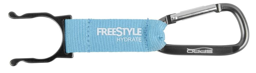 Spro freestyle bottle clip modrý