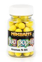 Mikbaits Mini Plávajúce Boilie Fluoro 60 ml 10 mm-Ananas N-BA