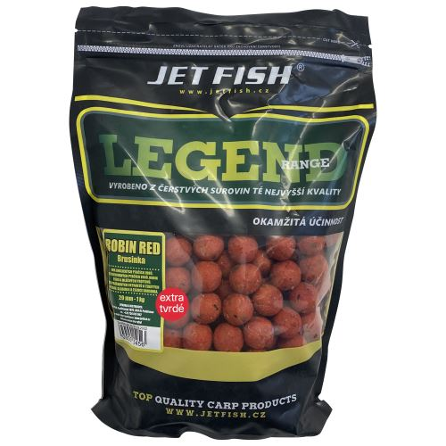 Jet Fish Extra Tvrdé Boilie Legend Range Robin Red Brusnica 250 g