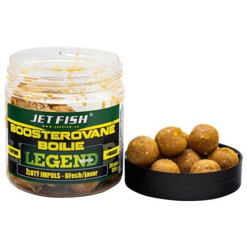 Jet Fish Boosterované Boilie Žltý Impuls Orech Javor 250 ml