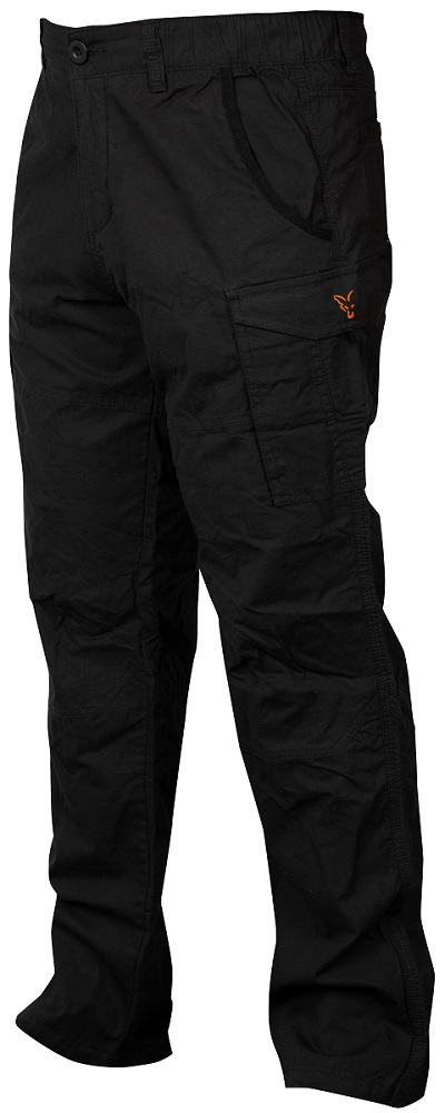 Fox nohavice collection black orange combat trousers-veľkosť s