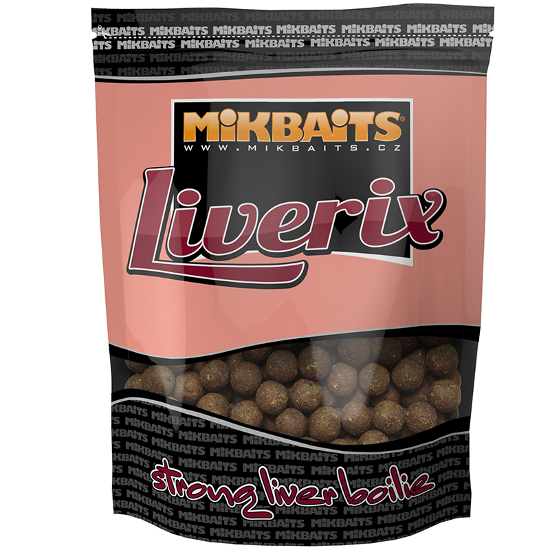 Mikbaits boilies liverix magická oliheň-2,5 kg 24 mm