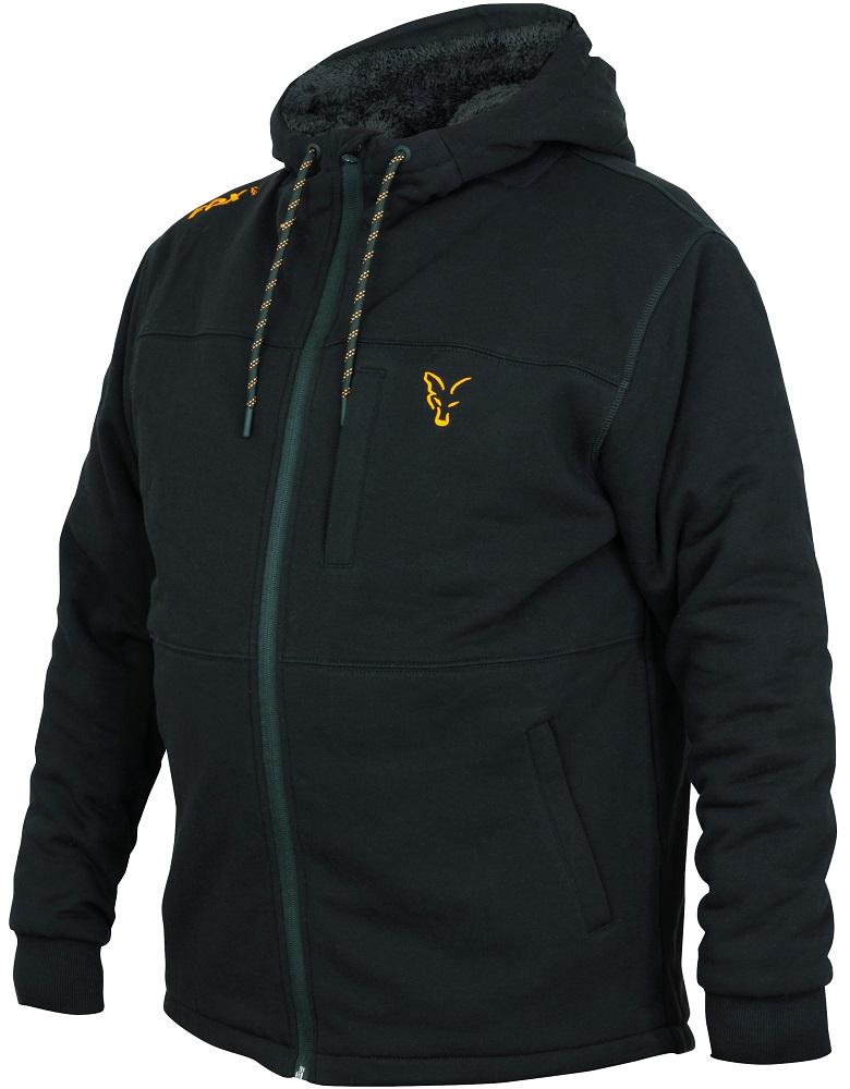Fox mikina collection sherpy hoody black orange-veľkosť xxl