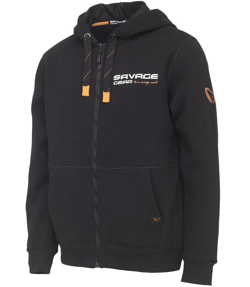 Savage gear mikina urban zip hoodie black ink - m
