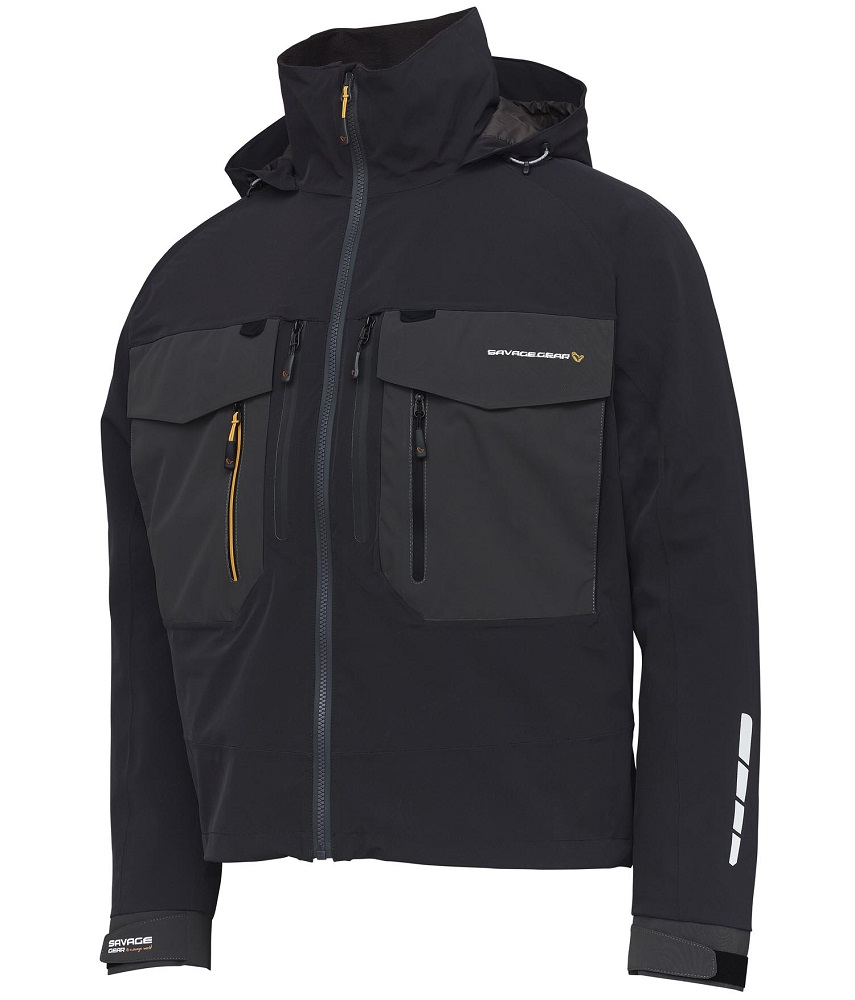Savage gear bunda sg6 wading jacket black grey - l