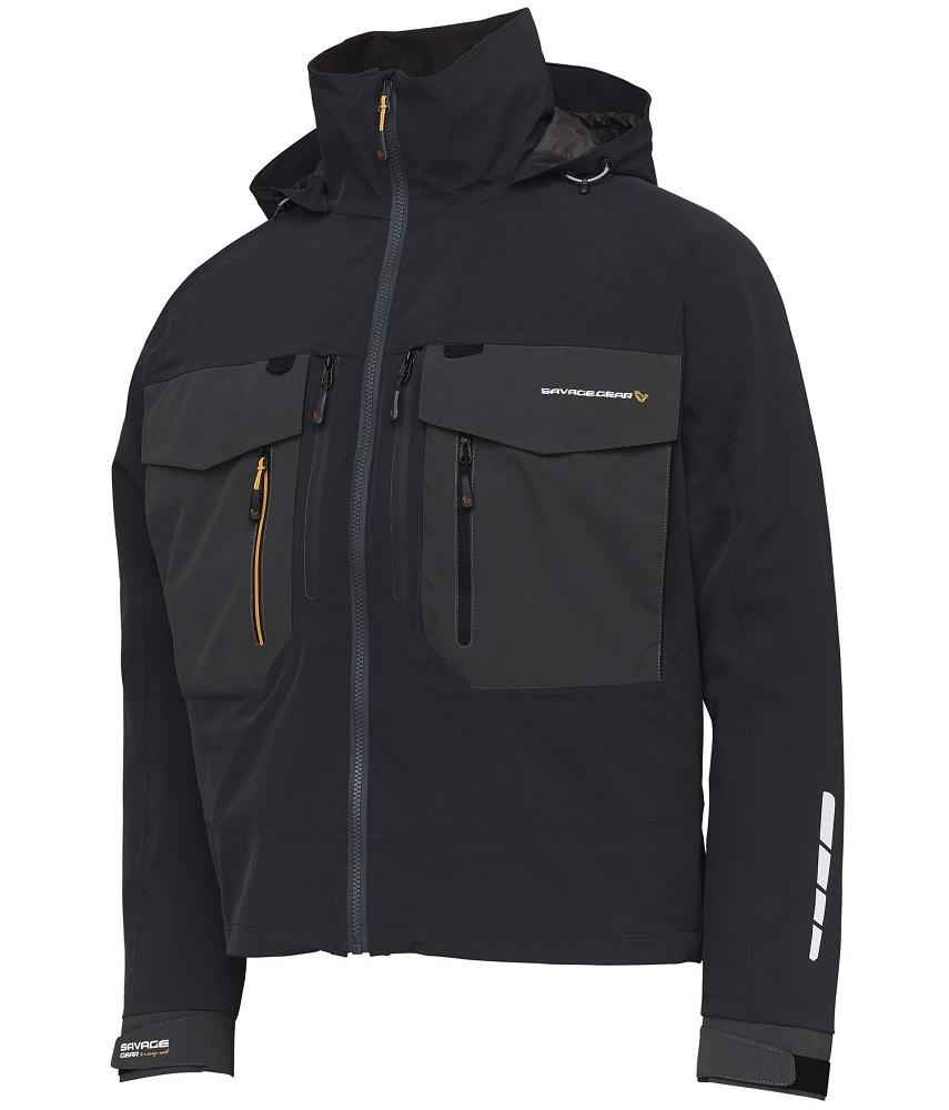 Savage gear bunda sg6 wading jacket black grey - xxl