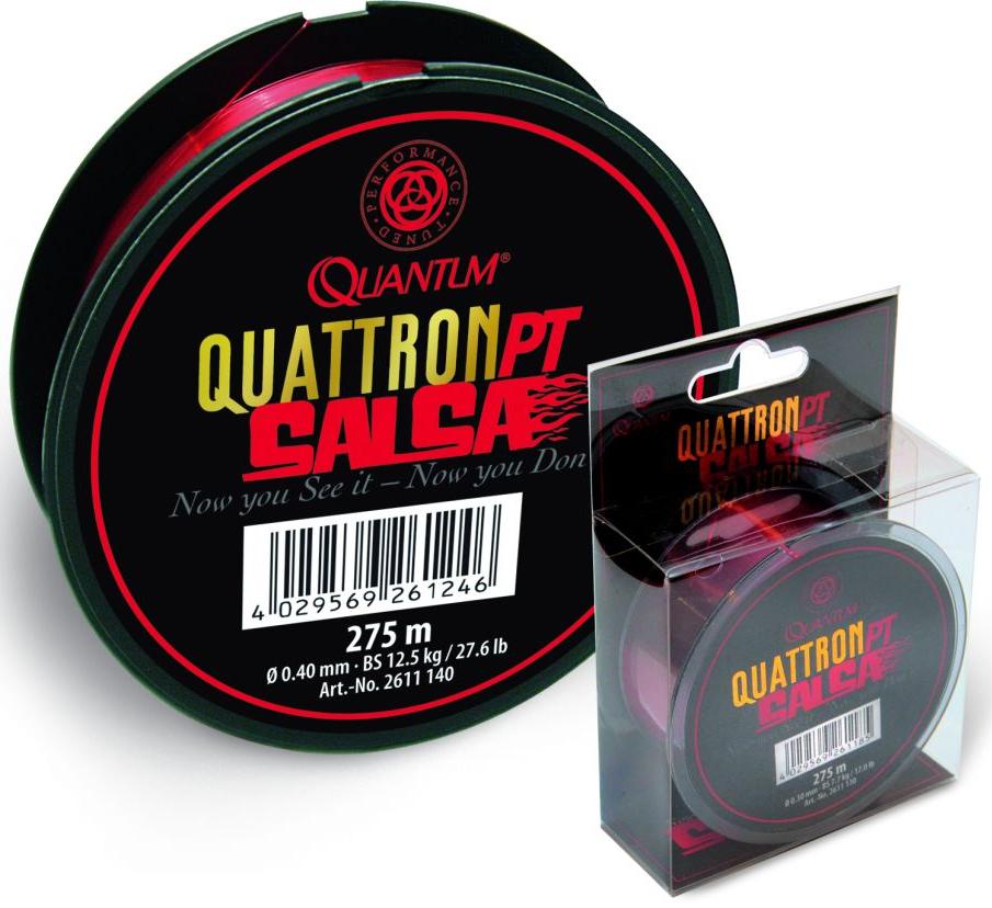 Quantum vlasec quattron salsa červená 275 m-priemer 0,25 mm / nosnosť 5,7 kg