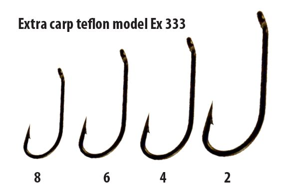 Extra carp háčiky teflon séria ex 333 ( 10ks v balení)-veľkosť 8
